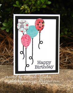 Birthday Balloons by annheidel - Cards and Paper Crafts at Splitcoaststampers