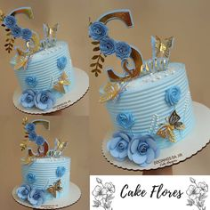 Birthday Decorations At Home, Birthday Cakes For Teens, Cute Birthday Cakes, 22nd Birthday, Birthday Cake Roses, Cake Decorating For Beginners, Cake Craft, Girl Cakes, Buttercream Cake