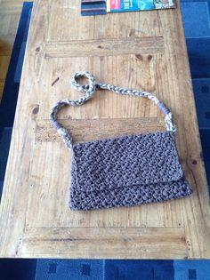 Pebble stitch crochet bag...