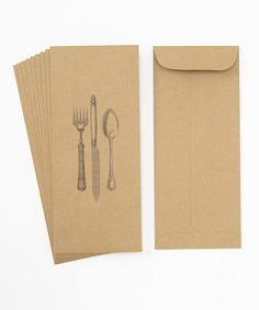 Such an adorable idea - silverware envelopes. #zulilyfinds