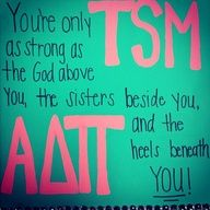ADPi crafting love this~take out the THE before God and its perfect! also change the colors to white and blue!