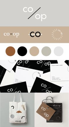 Modern clothing brand that focuses on using sustainable materials and processes. This brand identity has a natural color palette paired with modern and minimal design. View the whole project http://hereandnowcreative.co/project/co-op/