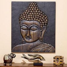 Buddha Face Wall Hanging Home Decor from World Market. $89.10