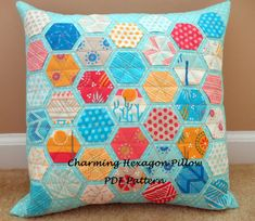 Charming Hexagon Pillow Pattern PDF by LuAnnsLooseThreads on Etsy