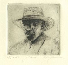 Pierre Medium Copperplate etching Support Japanese gampi paper Date 1998/2013 Size 3 x 3 inches