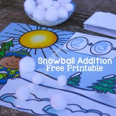 Adding can be so much fun with snowballs! This free printable for addition to 10 is a perfect thing to make your math time fun this winter!