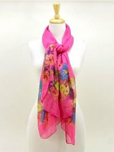 Fashion Pastoral Style Flower Floral Large Long Stole Scarf Shawl Wrap - Fuchsia by FOC. $14.99. Mother's Day Great Gift. 100% Brand New and high quality. Size: 43.3 X 66.1. Material: Cotton Blends & Polyester. 5 colour to choice:hot pink,blue,white,purple,black