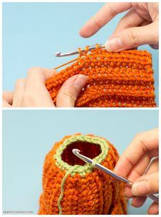 Newborn Pumpkin Hat Crochet Pattern ༺✿ƬⱤღ✿༻