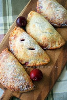 Pocket Plum Pie From: Home Is Where The Boat Is, please visit Bonus: The crust recipe is perfect for hand pies, have used it several times. Plum Recipes, Fruit Recipes, Sweet Recipes, Dessert Recipes, Recipies, Just Desserts, Delicious Desserts, Yummy Food, Plum Desserts