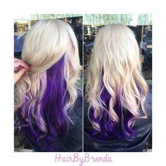Cute Purple Peek A Boo Highlights