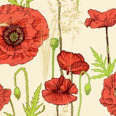 poppy fabric by veraholera on Spoonflower - custom fabric