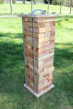East Plum: Giant Jenga with Easy Storage Box & Printable Rules