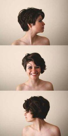 Cute curly asymmetrical hair