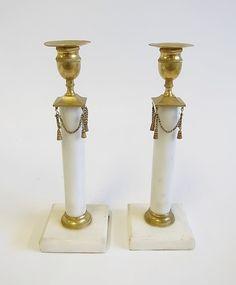 Antique gustavian candlesticks