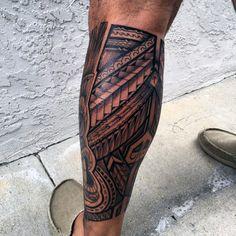 Polynesian Tribal Leg Tattoos For Men 60 hawaiian tattoos for men ...