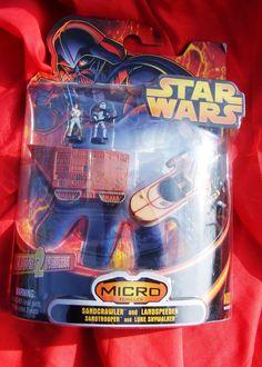 Star Wars Micro Machine Vehicles MINT Sandcrawler Landspeeder Sandtrooper #Hasbro