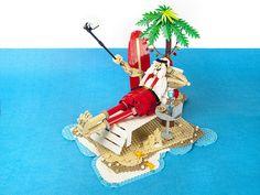 Even Santa Claus needs a bit of sunshine