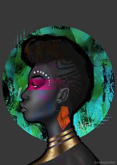 We Are Wakanda — wearewakanda: Featured artist: Ashley Straker. Black Girl Art, Black Women Art, Art Girl, Afrique Art, By Any Means Necessary, Wow Art, Afro Art, African American Art, African Women