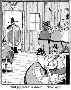 15 New Ideas For Funny Cartoons Jokes Humor Gary Larson Cartoon Jokes, Funny Cartoons, Funny Comics, Funny Humor, Far Side Cartoons, Far Side Comics, Music Jokes, Music Humor, Musica