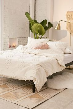 Tufted Geo Duvet Cover