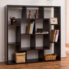 Furniture of America Aydan Modern Square Walnut Bookshelf/Room Divider | Overstock.com Shopping - The Best Deals on Media/Bookshelves