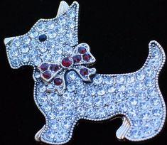 NIB MONET CHRISTMAS SCHNAUZER SCOTTIE SCOTTISH TERRIER DOG PUPPY BROOCH JEWELRY #MONET
