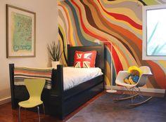 Wand Streichen Ideen  Streifen Horizontal Bunte Farben Flur Babyzimmer |  Spielzimmer | Pinterest | Wände Streichen Ideen, Wände Streichen Und  Babyzimmer