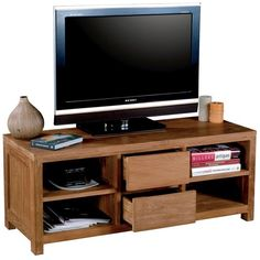 Occa Haus Neptune 2 Drawer TV Stand ($850) ❤ liked on Polyvore