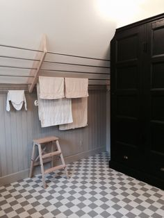 Small Laundry Rooms, Laundry Closet, Laundry Room Design, Laundry Room Inspiration, Attic Remodel, Cabana, Small Spaces, New Homes, House Design