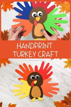 A Colorful & Cute Turkey Handprint Craft For Kids