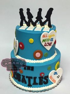 Pictures of Amaru Confections Birthday Cakes Beatles Birthday Party, Birthday Memes, Bear Birthday, Birthday Treats, Happy Birthday Cakes, 4th Birthday, Beatles Cake, Guitar Cake, Birthday Cake Decorating