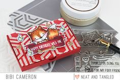 Gift Card Box with Pop Up holder (Neat and Tangled) Neat And Tangled, Gift Card Boxes, Little Boxes, Hello Everyone, Pop Up, Card Holder, Happy Birthday, Stamps, Gifts