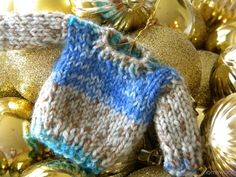 homework: Sew and Tell: tiny sweater ornaments