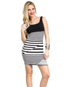 MOD 20 Women's Mixed Stripe Mini Dress => Quickly view this special  product, click the image : summer fashion