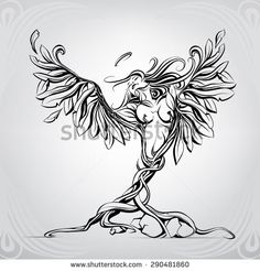 Find Angel Flowers Vector Illustration stock images in HD and millions of other royalty-free stock photos, illustrations and vectors in the Shutterstock collection. Thousands of new, high-quality pictures added every day. Body Art Tattoos, Girl Tattoos, Arte Cholo, Branch Vector, Angel Artwork, Future Tattoos, Tree Art, Royalty Free Images, Vector Art