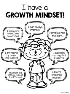 "GROWTH MINDSET: Great resource for introducing elementary students to positive ""self-speak""!"