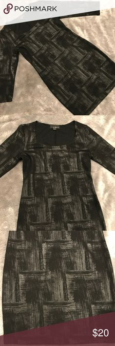 Forever 21 Leather Looking Bodycon Shirt dress Forever 21 Leather Looking Bodycon Dress. soooooo cute but only worn once and I don't fit into it. It looks like leather but it's cotton. 3/4 sleeve dress long sleeve Bodycon Forever 21 Dresses Long Sleeve
