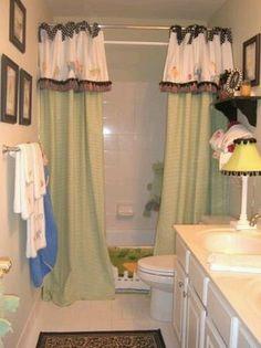 Adorable Shower Curtain Idea   Window Valance