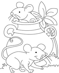 Two Mouse Coloring Pages