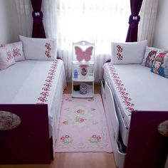 Image may contain: indoor - Decor Home Bunk Bed Designs, Kids Bedroom Designs, Room Design Bedroom, Baby Room Design, Baby Room Decor, Girls Bedroom, Bedroom Decor, Bedroom Furniture, Outdoor Furniture