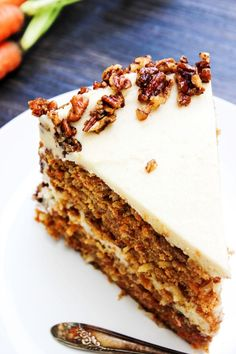 Best Ever Carrot Cake With Maple Brown Sugar Buttercream Candied Pecans