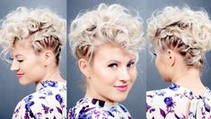 Creative Braided Hairstyles for Short Curly Hair In 2020 Creative Short Hairstyle Retro Faux Hawk Retro Hairstyles, Party Hairstyles, African Hairstyles, Braided Hairstyles, Hairstyles Videos, Creative Hairstyles, Hairstyles Pictures, Simple Hairstyles, Hairstyles 2016