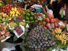 Open air market in Spain