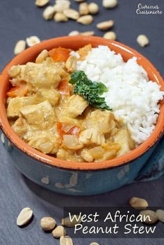 West African Peanut Stew brings tender chicken and earthy, nutty peanuts together in one flavorful and comforting dinner recipe. Soup Recipes, Dinner Recipes, Chili Recipes, Yummy Recipes, Duck Recipes, Cooking Recipes, Healthy Recipes, African Peanut Stew, Curry Stew