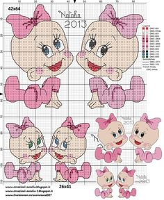 gemelline / Близняшки 42x64 e 26x41 stitch. Обсуждение на LiveInternet - Российский Сервис Онлайн-Дневников