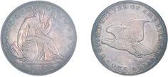 """Amerika - Vereinigte Staaten von Amerika. 1 US-Dollar 1836, """"Gobrecht Dollar"""", Adler ohne Sterne."""