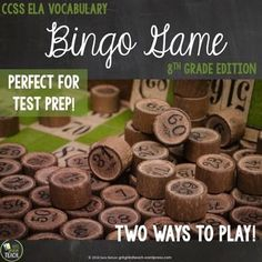 Play Bingo to reinforce literary terms and academic vocabulary. Perfect for Middle School!