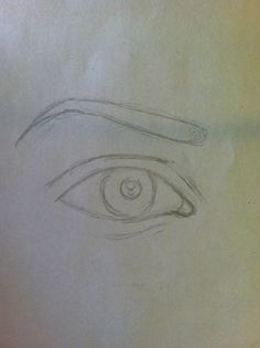 Add the outline of the eyebrow and the pupil