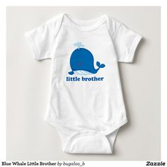 Blue Whale Little Brother Infant Creeper