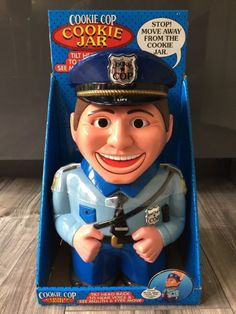 NEW Talking Cookie Cop Cookie Jar Biscuit Tin Barrel Eyes And Mouth Move Too | eBay